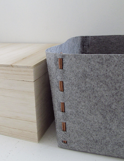 no-sew felt storage box DIY
