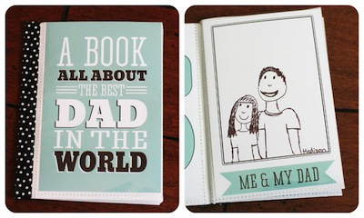 Free Download A Book For Dad Fathers Day Kids Craft