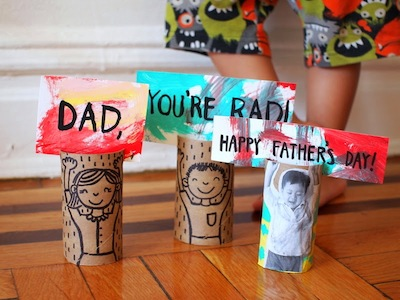 toilet roll Father's Day card