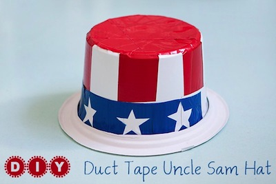 DIY duct tape Uncle Sam hat