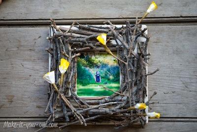 twig photo frame nature craft