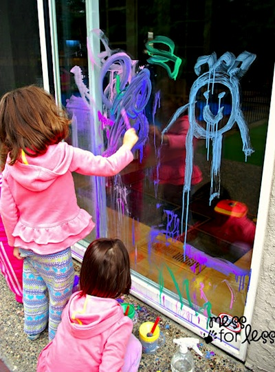 painting on windows for kids