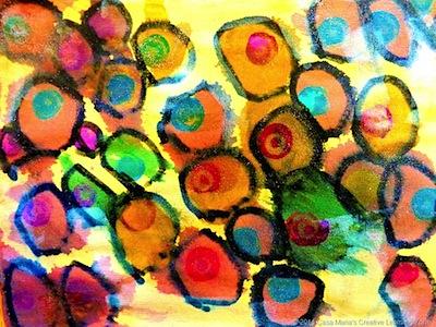 crayon resist on sandpaper