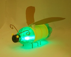 plastic bottle glowing firefly craft