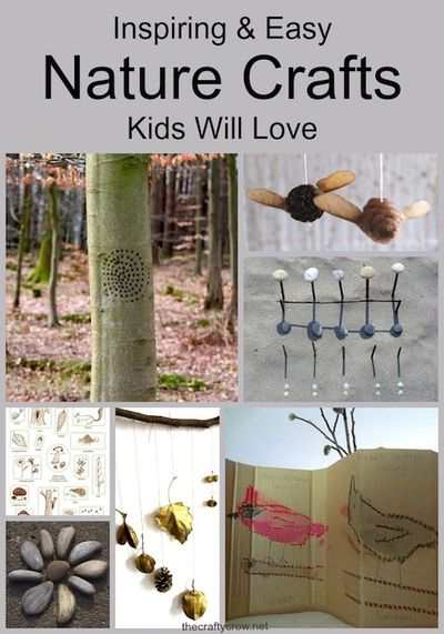 The Crafty Crow inspiring and easy nature crafts for kids