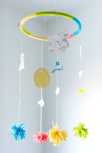 vacation mobile kids craft for summer