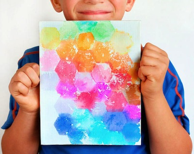 bleeding tissue printmaking art for kids