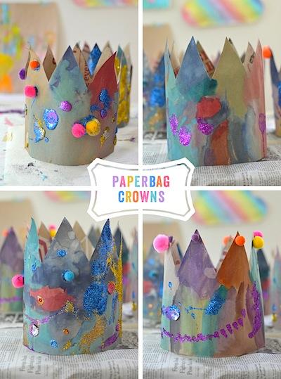 paper bag crowns craft