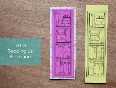 2013 free printable bookmark to record books read