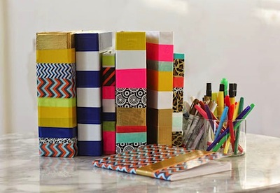 personalized school supplies DIY with duck tape