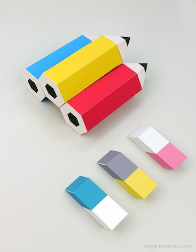 back to school printable pencil favor boxes