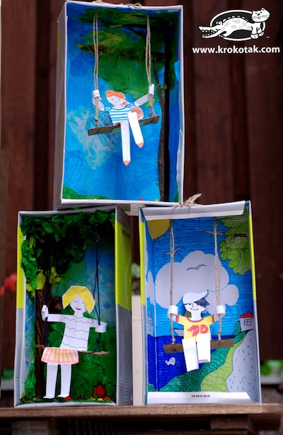 swing diorama from a shoebox craft
