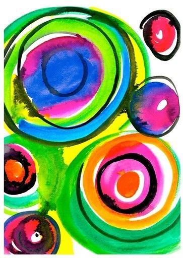 Expressive Art Workshops spontaneous circles warm-up activity