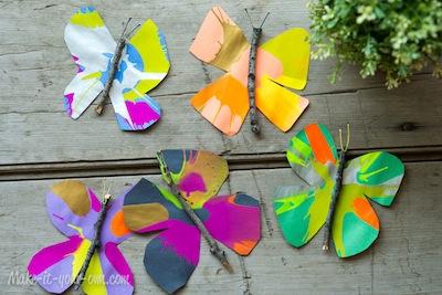 spin art butterflies