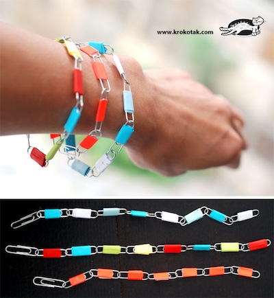 Paper Clip Bracelet Tutorial Things To Make And Do Crafts And
