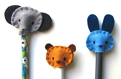 felt pencil toppers DIY
