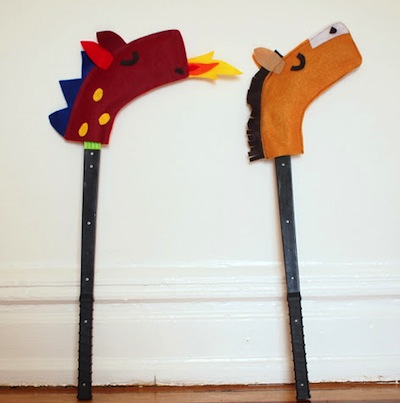 hockey stick hobby horse and dragon