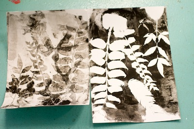 making gelatin leaf prints