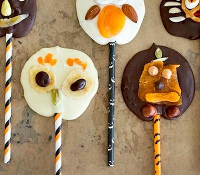 chocolate trail mix lollipops fall treat