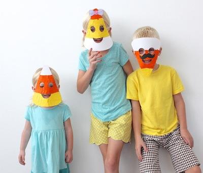 candy corn masks free printable