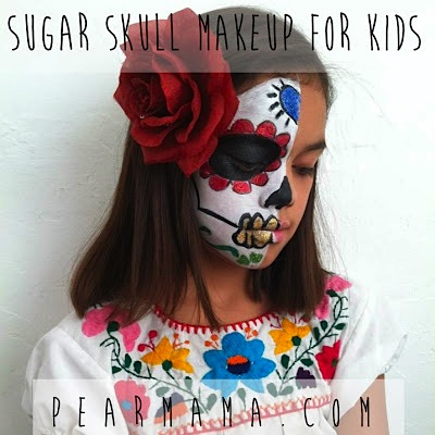 Day of the Dead sugar skull makeup for kids