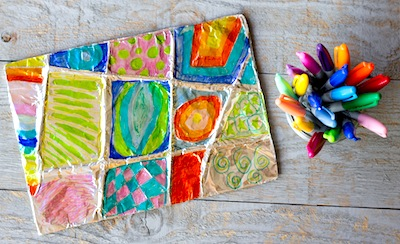 easy aluminum foil kids art