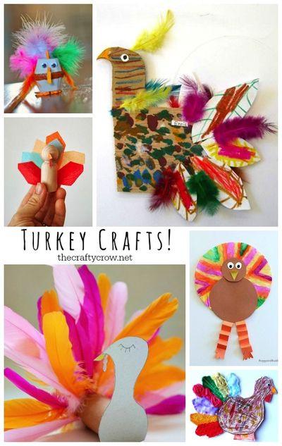 The Crafty Crow turkey crafts for kids