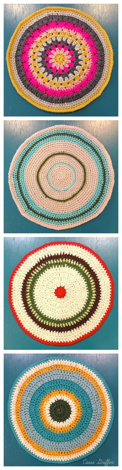 Bella Dia crocheted placemats by Cassi Griffin