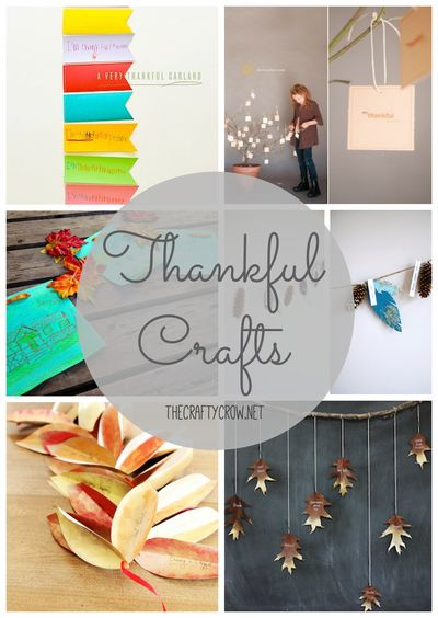 The Crafty Crow thankful crafts for kids