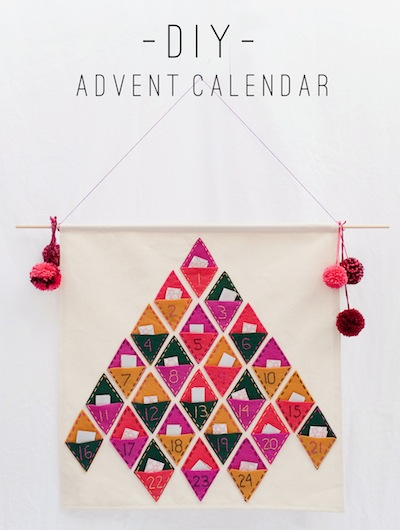 little felt pockets advent calendar to stitch