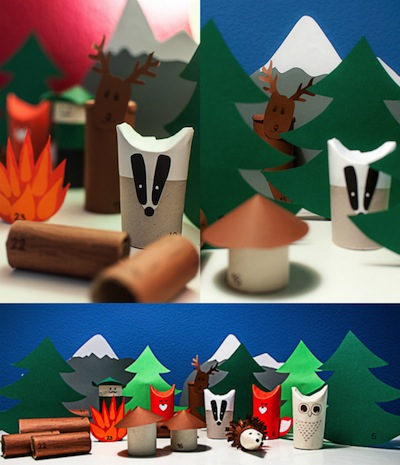 animals in the forest advent calendar to make