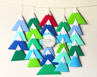 origami mountain advent calendar for kids