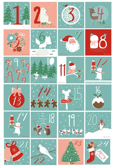Lizzie Mackay advent calendar tag printable