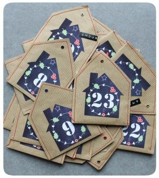 Avec Ses 10 Ptits Doigts advent calendar tag printable