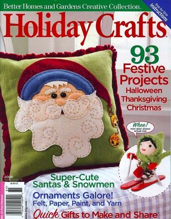 Bella Dia pine cone girls tutorial in BHG Holiday Crafts magazine
