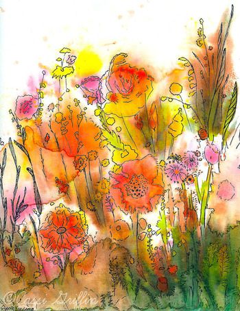 Cassi Griffin late summer watercolor and ink illustration