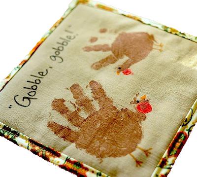 handprint turkey hot pad DIY