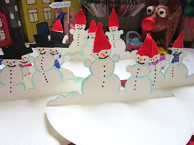 paper plate snowman & Paper Plate Snowmen Craft - Things to Make and Do Crafts and ...