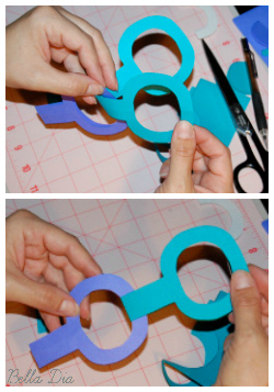 Bella Dia paper chain without glue or staples DIY how to