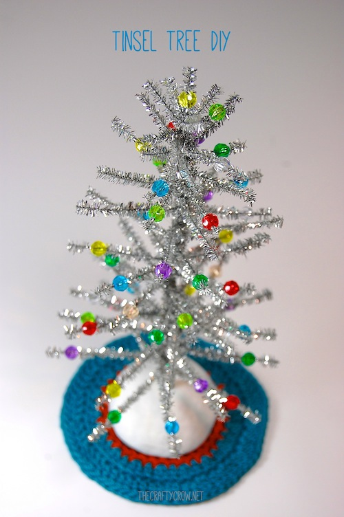 Bella Dia tinsel Christmas tree craft DIY