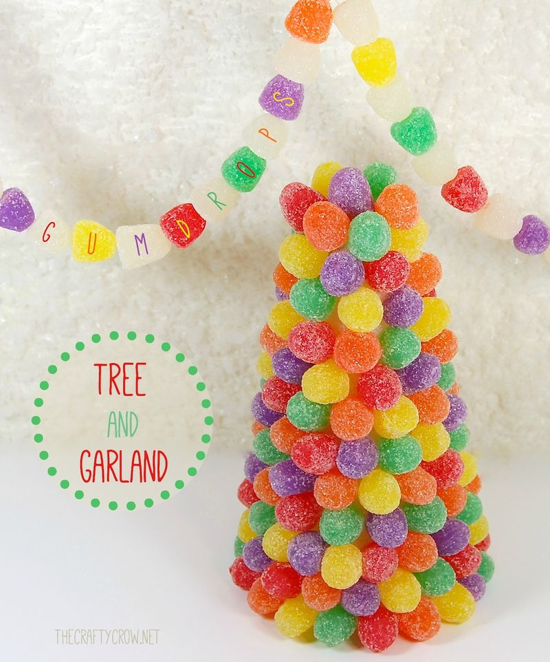 Bella Dia Book and Activity Advent gumdrop trees and garland DIY