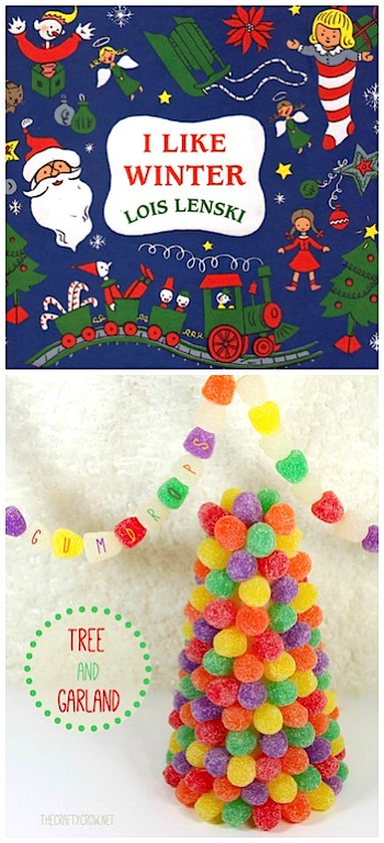 The Crafty Crow Book and Activity Advent gumdrop trees and garland DIY
