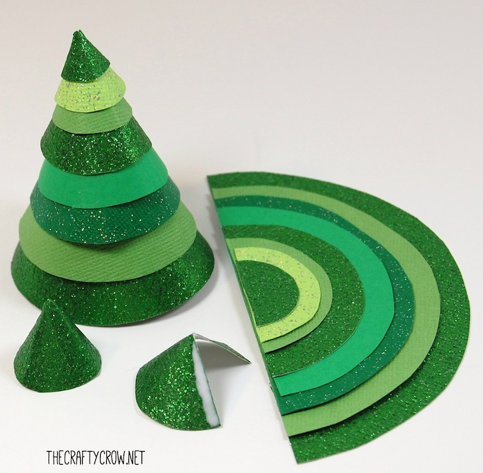 Bella Dia stacked paper Christmas tree craft for kids steps