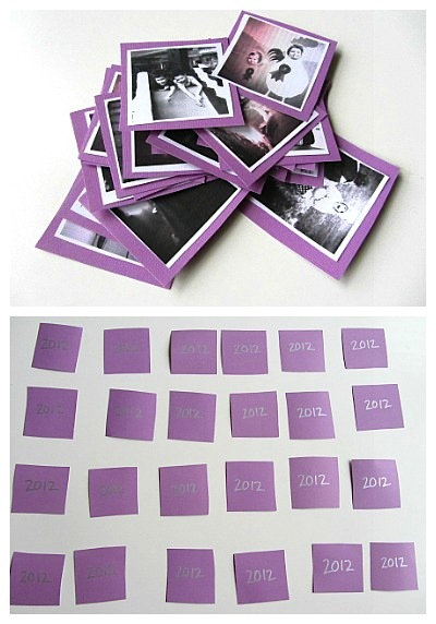 easy New Year's memory game for kids