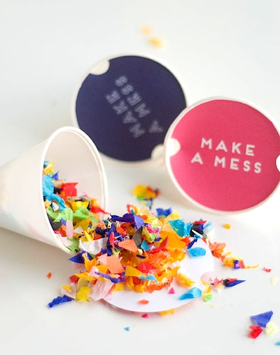 easy DIY confetti throwers with free printable