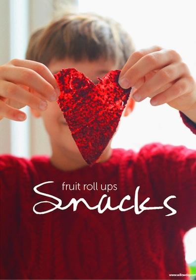 how to make homemade fruit roll-ups cut into a heart shape