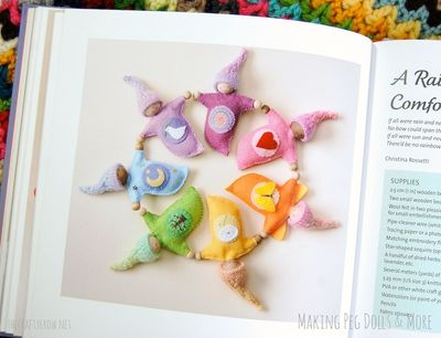 The Crafty Crow Making Peg Dolls & More book review Herbal Comfort Friends