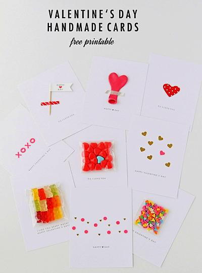 Valentine cards to print