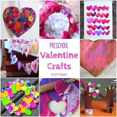 The Crafty Crow Valentine crafts for preschoolers