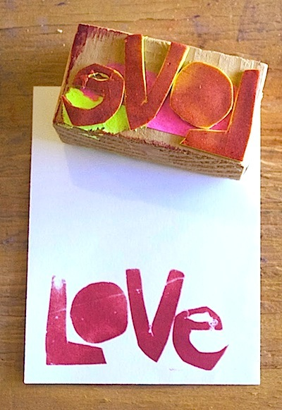 homemade Valentine's day stamps for cards kids can make